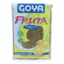 Goya Fruta Frozen Naranjilla/Lulo Pulp  No Sugar Added  Gluten Free