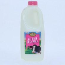 Kemps Fat Free Skim Milk Vitamin A and D Half Gallon 64 oz