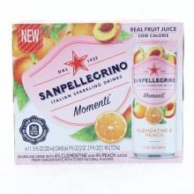 San Pellegrino Clementine & Peach Flavored Sparkling Drinks 66.9 oz