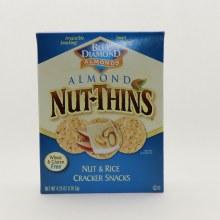 Blue Diamond Almond Nut Thins Nut & Rice Cracker Snacks, Wheat & Gluten Free 4.25 oz