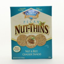 Blue Diamond Pecan Nut Thins Nut  and  Rice Cracker Snacks  and  Wheat and Gluten Free 4.25 oz
