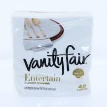Vanity Fair White Napkins
