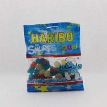 Haribo Sour Smurfs Gummi Candy Natural And Artificial Flavors