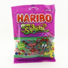 Haribo Sour SGhetti Extra Sour Gummi Candy Naturally And Artificially Flavored