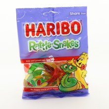 Haribo Rattle Snakes Gummi Candy, Natural And Artificial Flavors 5 oz