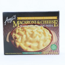 Amys Macaroni  and  Cheese Made with Organic Pasta. Non GMO.