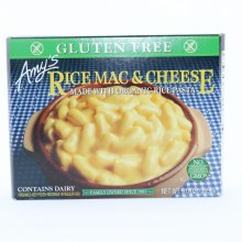 Amys Rice Mac  and  Cheese Made with Organic Rice Pasta. Non GMO.  9 oz