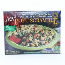 Amy's Tofu Scramble, made with Organioc Tofu Vegetables & Hash Browns, Gluten Free, No GMos, 9.0 oz 9 oz
