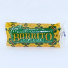 Amys Burrito Especial. Made with Organic Black Beans Rice  and  Tomatoes.  6 oz
