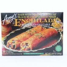 Amys Enchilada Black Bean Vegetable made with Organic Tortillas Black Beans  and  Vegetables Dairy Free No GMOs 9.5 oz