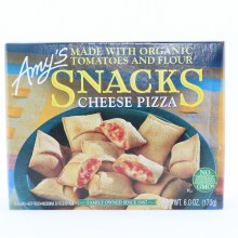 Amys Snacks Cheese Pizza. Made with Organic Tomatoes and Flour. Non GMO.