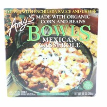 Amys Bowls Mexican Casserole  Made with Organic Corn and Beans. Non GMO. 9.5 oz