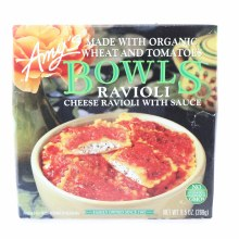 Amys Bowls Ravioli Cheese Ravioli with Sauce. Non GMO.  9.5 oz