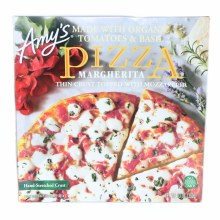 Amys Pizza Margherita Thin Crust Topped with Mozzarella made with Organic Tomatoes  and  Basil No GMO 13 oz  13 oz