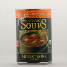 Amys Organic Soups Minestrone Low Fat
