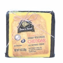 Boars Head All Natural Sharp Wisconsin Cheddar Cheese Hand Dipped in Black Wax