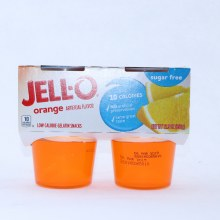 Jello Orange Gelatin No Artificial Preservatives 10 Calories Sugar Free 4 cups 12.5 oz