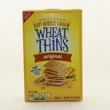 Nabisco 100Per Cent Whole Grain Wheat Thins Original 9.1 oz