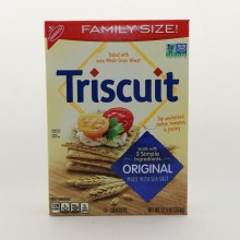 Nabisco Family Size Triscuit Crackers Orginal made with Sea Salt  and  NON GMO  12.5 oz