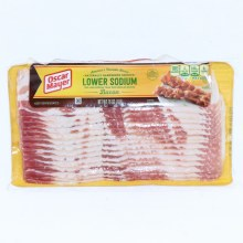 Oscar Mayer Naturally Hardwood Smoked Lower Sodium Bacon 30Per Cent Less Sodium Than Regular Bacon