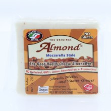 Lisanatti Foods The Original Almond Mozzarella Style No Cholesterol GMOs Lactose Saturated Fats or Preservatives No Gluten 8 oz