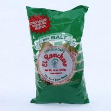 El Ranchero Tortilla Chips with Salt Naturally Gluten Free Cholesterol Free NON GMO Corn