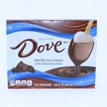 Dove Vanilla Ice Cream with Milk Chocolate Bars.  8.67 oz