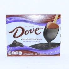 Dove Chocolate Ice Cream with Dark Chocolate Bars.  8.67 oz