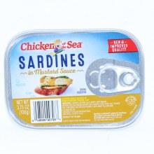 Chicken of the Sea, Sardines in Mustard Sauce, 3.75 oz 3.75 oz