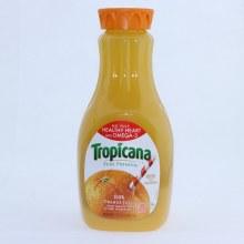 Tropicana 100Per Cent Orange Juice. No Pulp Healthy Heart with Omega 3. 52 fl oz.