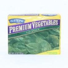 Flav-R-Pac Frozen Leaf Spinach 10 oz