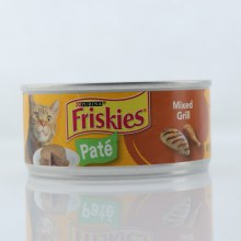Purina Friskies Pate, Cat Food, Mix Grill, 100% Complete & Balanced Nutrition for Adult Cats 5.5 oz