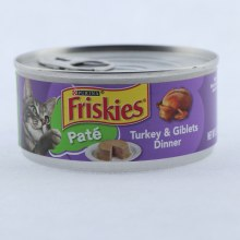 Purina Friskies Pate Cat Food Turkey  and  Giblets Dinner 100Per Cent Complete  and  Balanced Nutrition for Adult Cats and Kittens