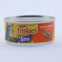 Purina Friskies Meaty Bits Chicken Dinner in Gravy Cat Food 100Per Cent Complete  and  Balanced Nutrition for Adult Cats