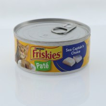 Purina Friskies Pate Cat Food, Sea Captain's Choice, 100% Complete and Balanced Nutrition For Adult Cats and Kittens 5.5 oz