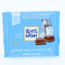 Ritter Sport Alpine Milk Chocolate, 30% Cocoa 3.5 oz