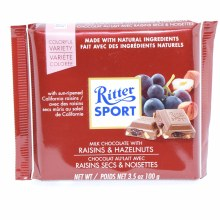 Ritter Sport Milk Chocolate with Raisins & Hazelnuts 3.5 oz