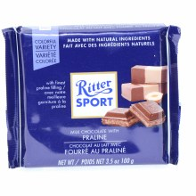 Ritter Sport, Milk Chocolate with Praline 3.5 oz