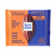 Ritter Sport 74% Peru Dark Chocolate, Intense 3.5 oz