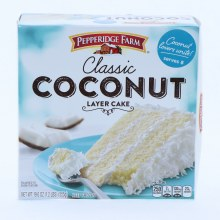 Pepperidge Farm Classic Coconut Layer Cake, Serves 8, 19.6 oz 19.6 oz