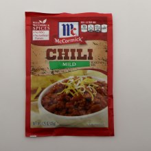 McCormick Mild Chili Seasoning Mix No MSG No Artificial Flavors