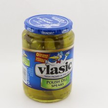 Vlasic Polish Dill Spears Hearty Dill  and  Hint of Dill Flavors Naturally Flavored Crunchy