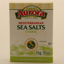 Aurora Mediterranean Coarse Sea Salt, Product of Italy 35 oz