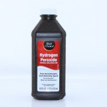 Best Choice Hydrogen Peroxide Topical Solution USP First Aid Antiseptic Oraql Debriding Agent For Treatment of Minor Cuts and Abrasions