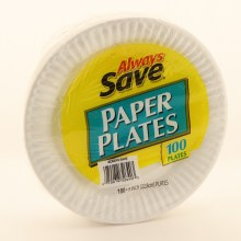 Always Save Paper Plates