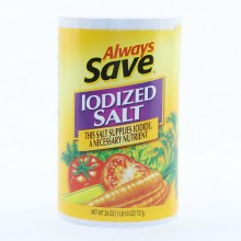 Always Save Iodized Salt 26oz.
