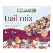 Best Choice Trail Mix Granola Bars with Fruit   and  Nut made with whole oats and No artificial flavors