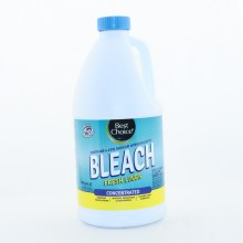 Best Choice Fresh Linen Concetrated Bleach Removes Tough Stains Whitens Brightens  and  Deodorizes Cleans Hard Surfaces Contains 4.13Per Cent Sodium Hypochlorite Safe for all HE Washing Machines