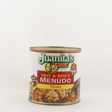 Juanita's hot & spicy menudo 25 oz