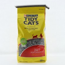 Purina Tidy Cats Cat Litter  Non Clumping Clay Litter for Multiple Cats  Powerful Odor Control  24/7 Performance  99.6Per Cent Dust Free
